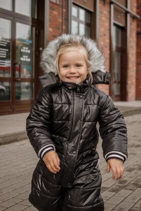 """Детский зимний комбинезон """"Микки"""" (черный подклад)"""
