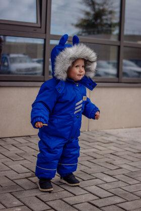 """Детский зимний мембранный комбинезон """"Сказка, синий"""""""