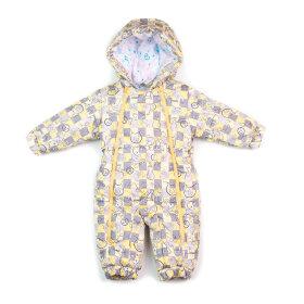 """Детский демисезонный комбинезон """"Крошка, желтый"""" для новорожденных с пинетками"""