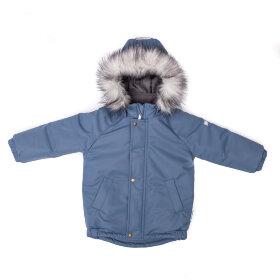 """Детская зимняя мембранная куртка """"Чудо, серо-голубой"""""""